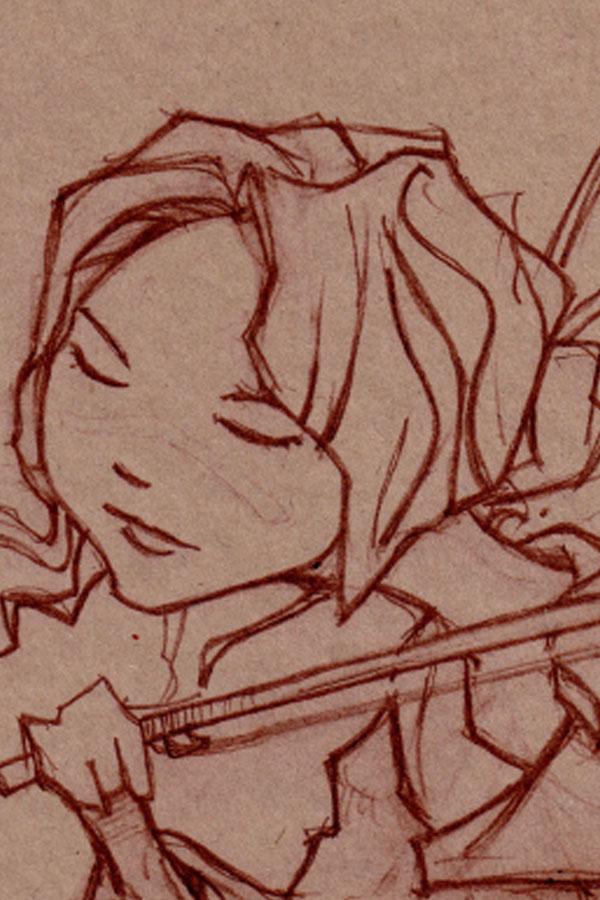 Violin character sketch
