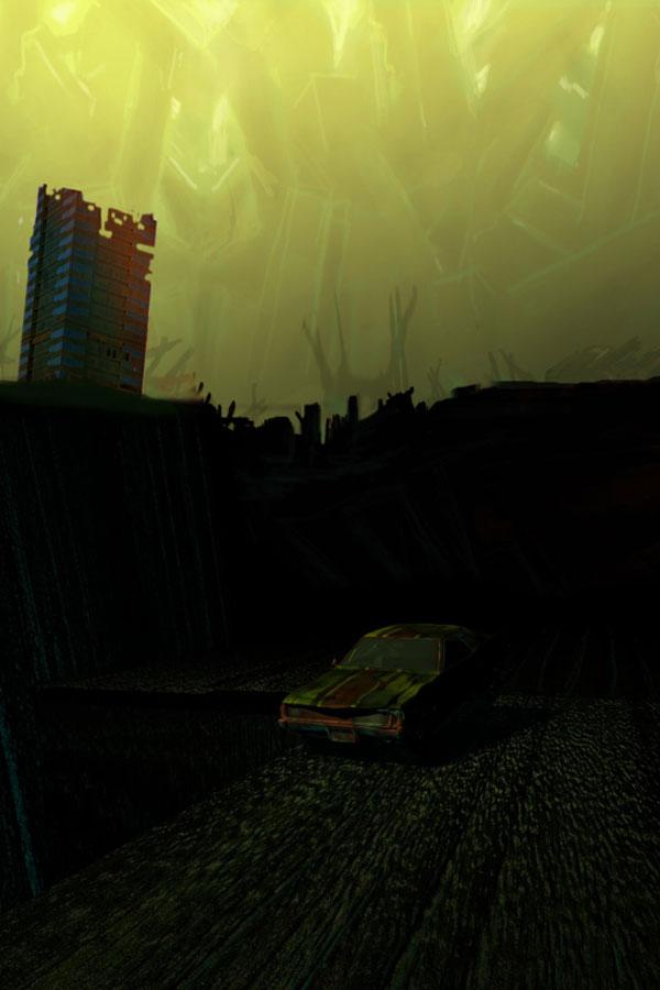 Desolate wasteland sketch