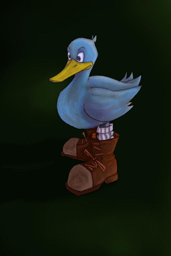 Duck digital illustration
