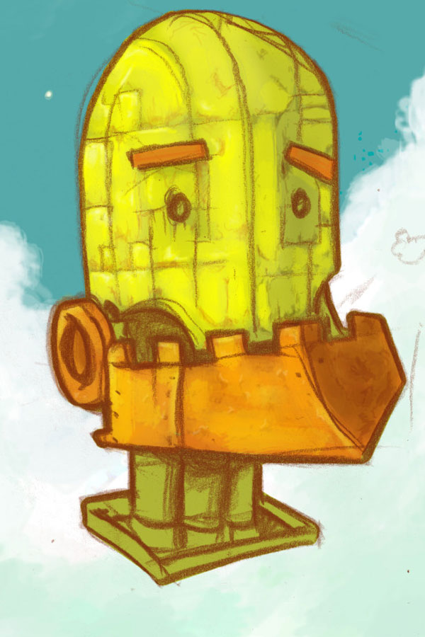 Duck robot painting