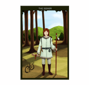 Illustration of mythical guidance card character