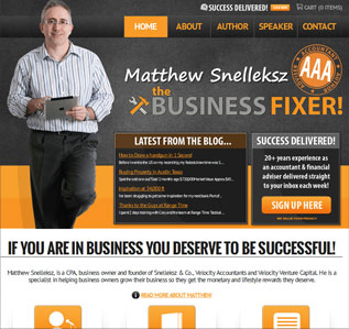 Business Fixer website design