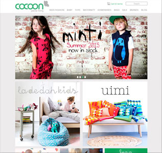 Cocoon Living website design