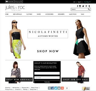 Jules Roc website design