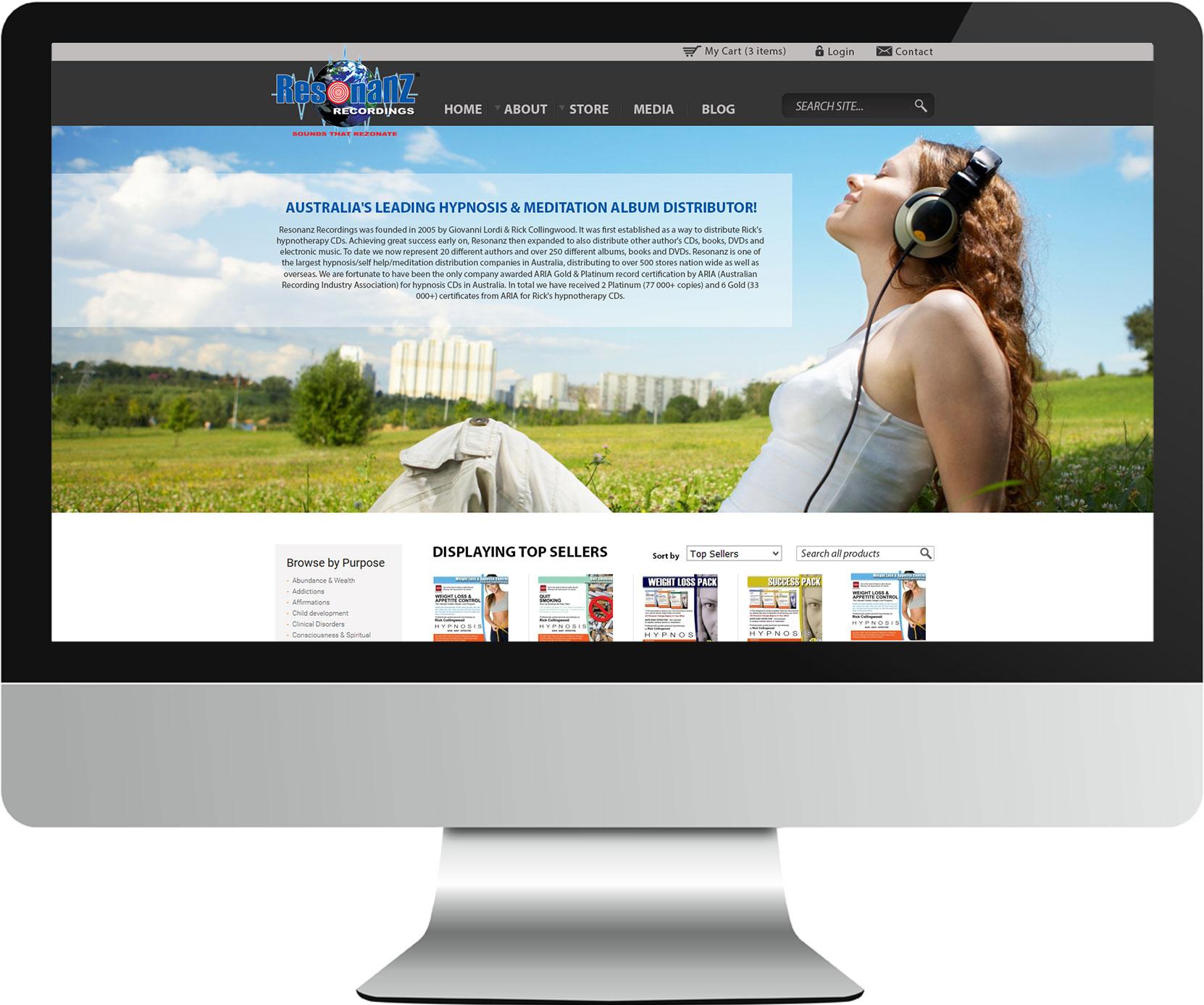 Resonanz website screenshot