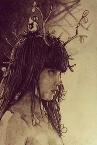 Solemn lady sketch