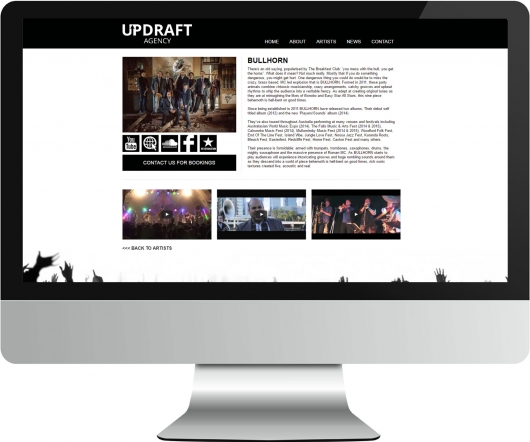 Updraft website screenshot